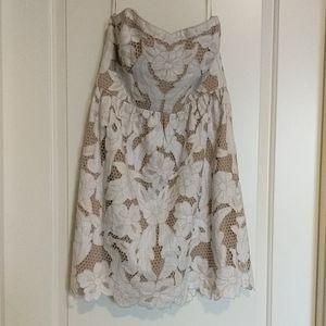 NWT Club Monaco Lace Strapless Mini Dress